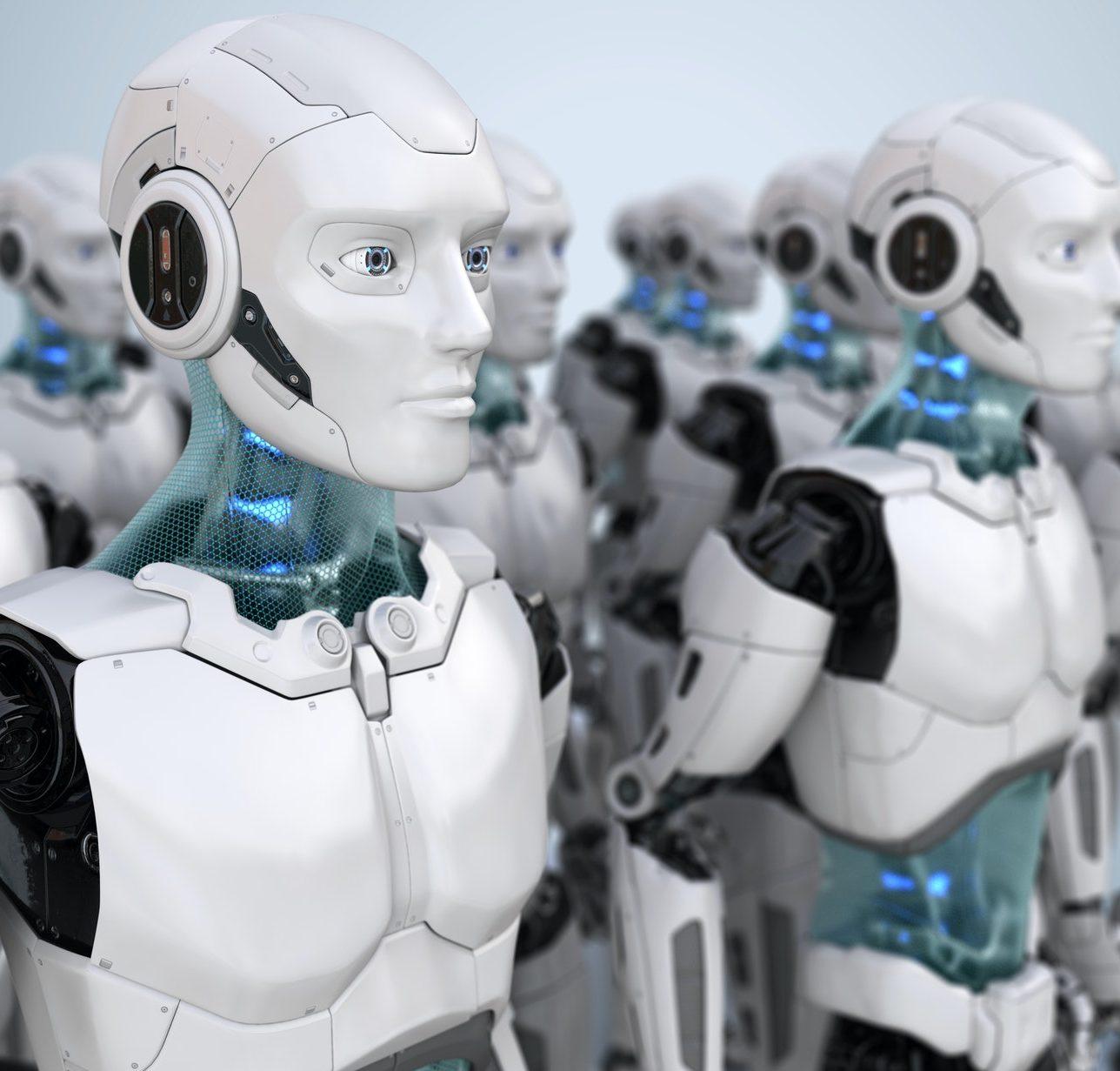 Crowd of robots